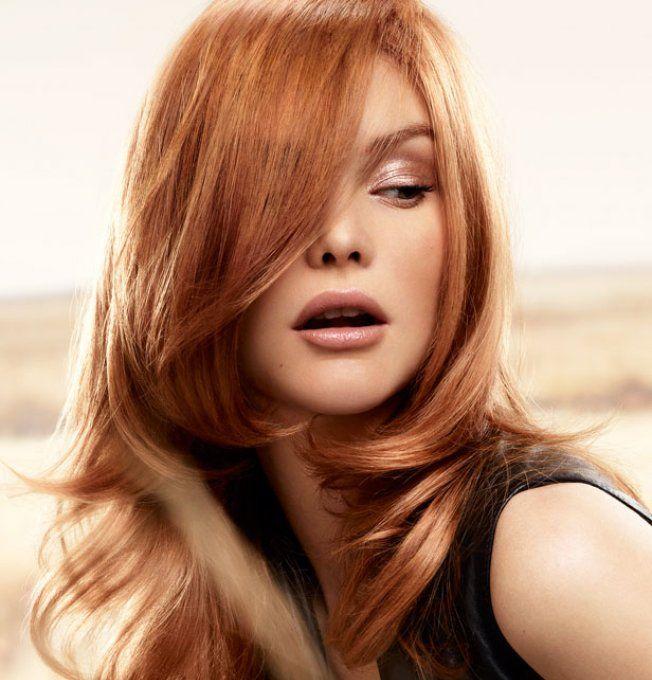 Teinture rousse pour cheveux