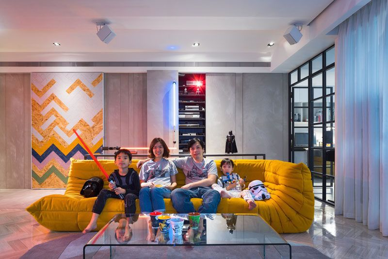This Family Has A Star Wars Inspired Apartment White Interior Design White Interior Apartment Inspiration
