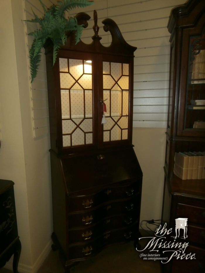 Jasper Cabinet Company Chippendale Style Mahogany Secretary. It Features A  Swan Neck Bonnet Top Carved Pediment, A Molded Cornice And Doors And  Drawers With ...