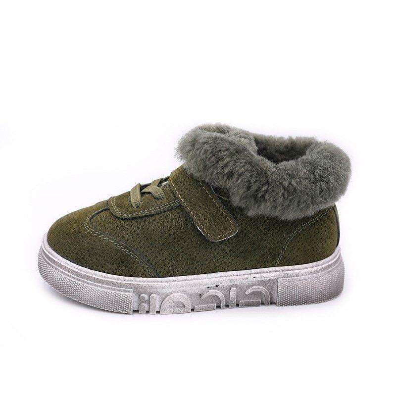 0da9c8db2 Boys Rabbit Fur Boots Winter Shoes for Girls Sport Sneaker Boots ...