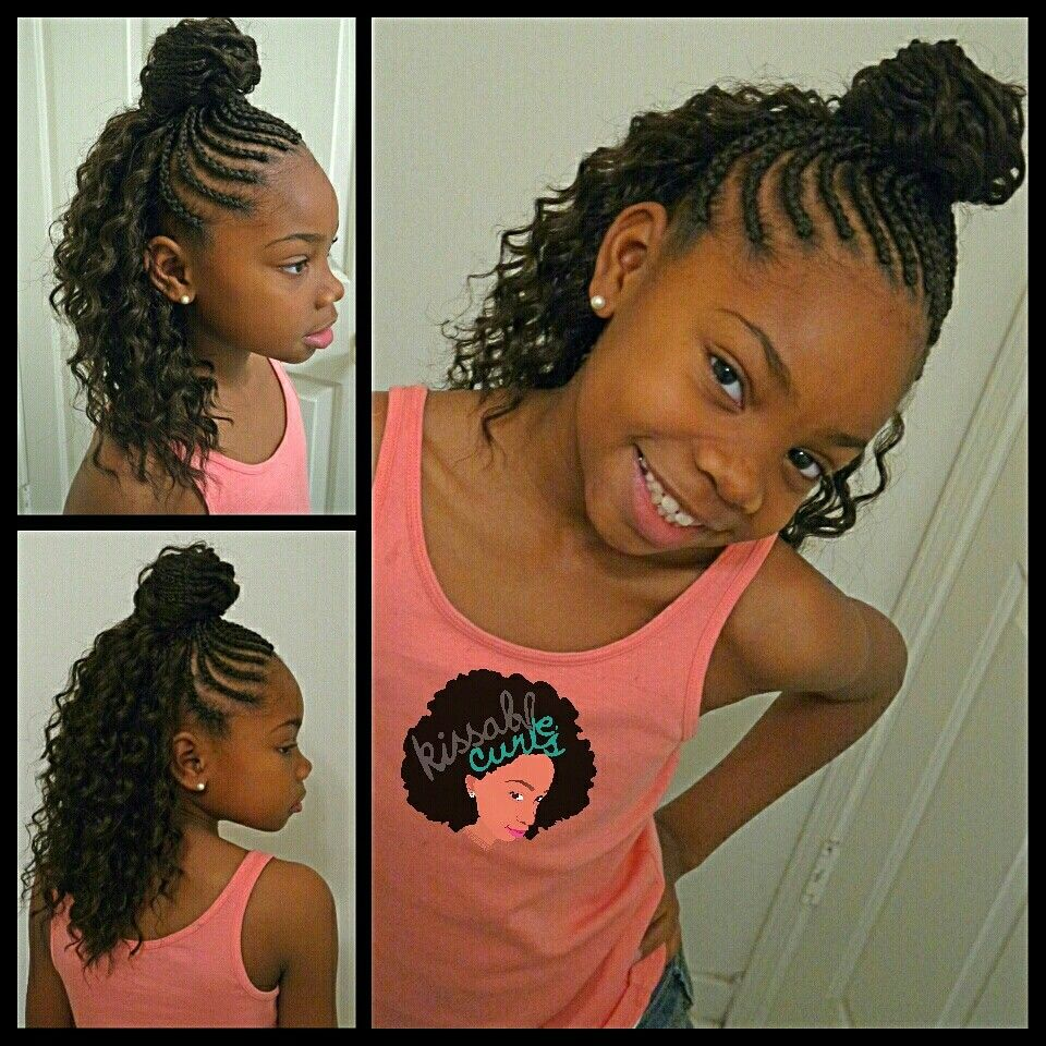 girls crochet braids style freetress deep twist | kissable