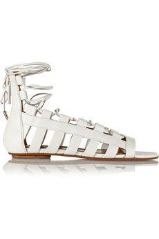 Aquazzura Amazon leather sandals   NET-A-PORTER