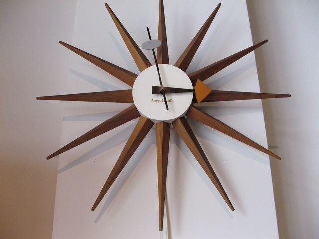George Nelson Sunburst Wall Clock Klokke