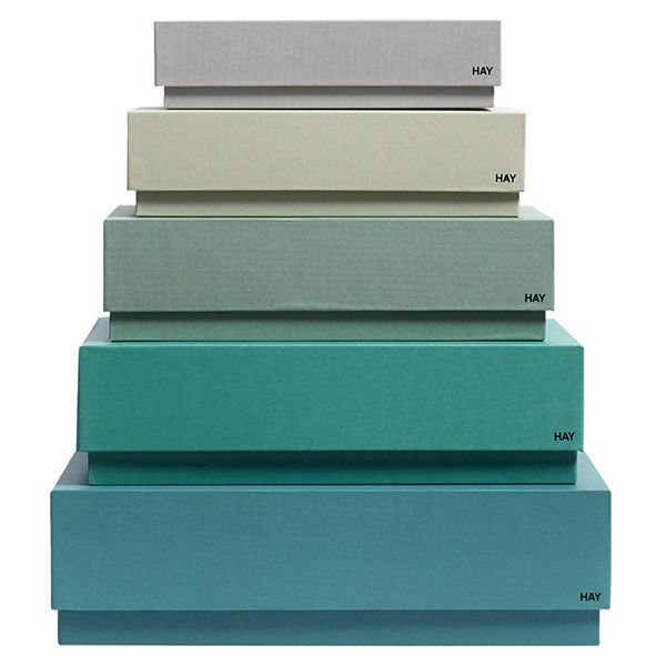 Stackable Boxes Home Decor Hay Box Box Desktop  Set Of 5  Green $54 ❤ Liked On Polyvore