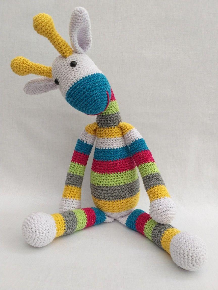 GIRAFINHA COLORIDA. Amigurumi | Chapéu de crochê, Bonecas de ... | 1152x864