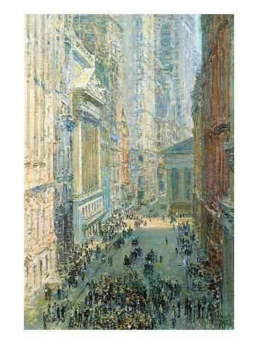 Art Print: Lower Manhattan Poster by Childe Hassam : 24x18in paintingprints #artprints #lowermanhattan #framedartwork #findart #artist #poster #products #artists