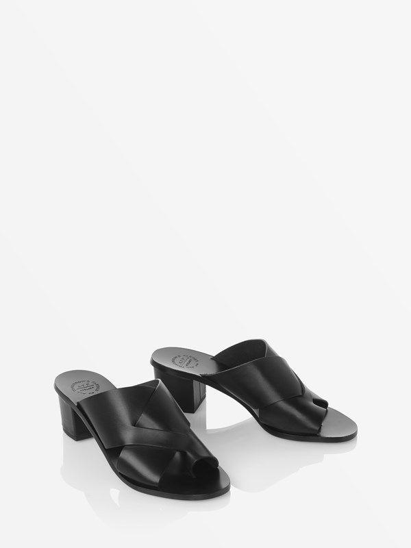 d7765d91c43 Vacchetta Felicia Black Vacchetta | S\S 18-19 | Low heel sandals ...