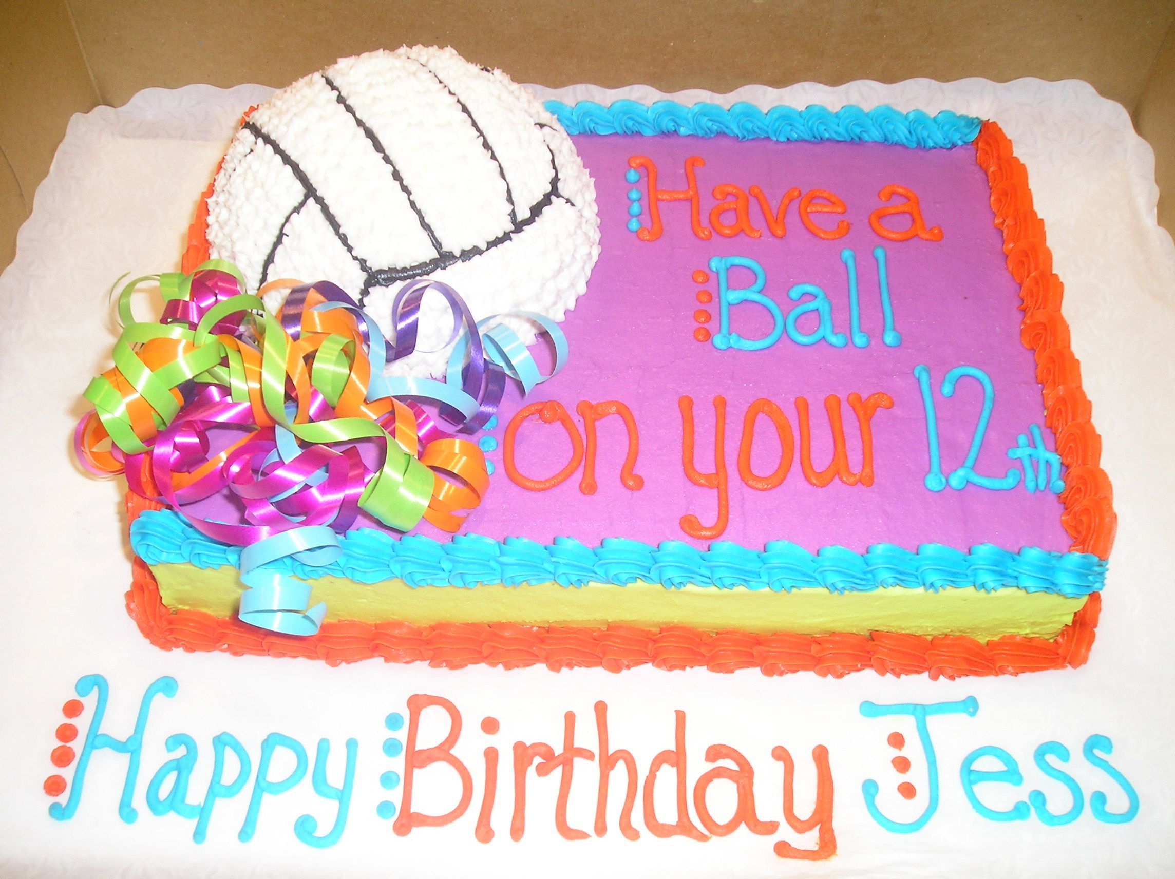 I AM getting this cake no matter what! NEED A VOLLEYBALL CAKE NOW ...