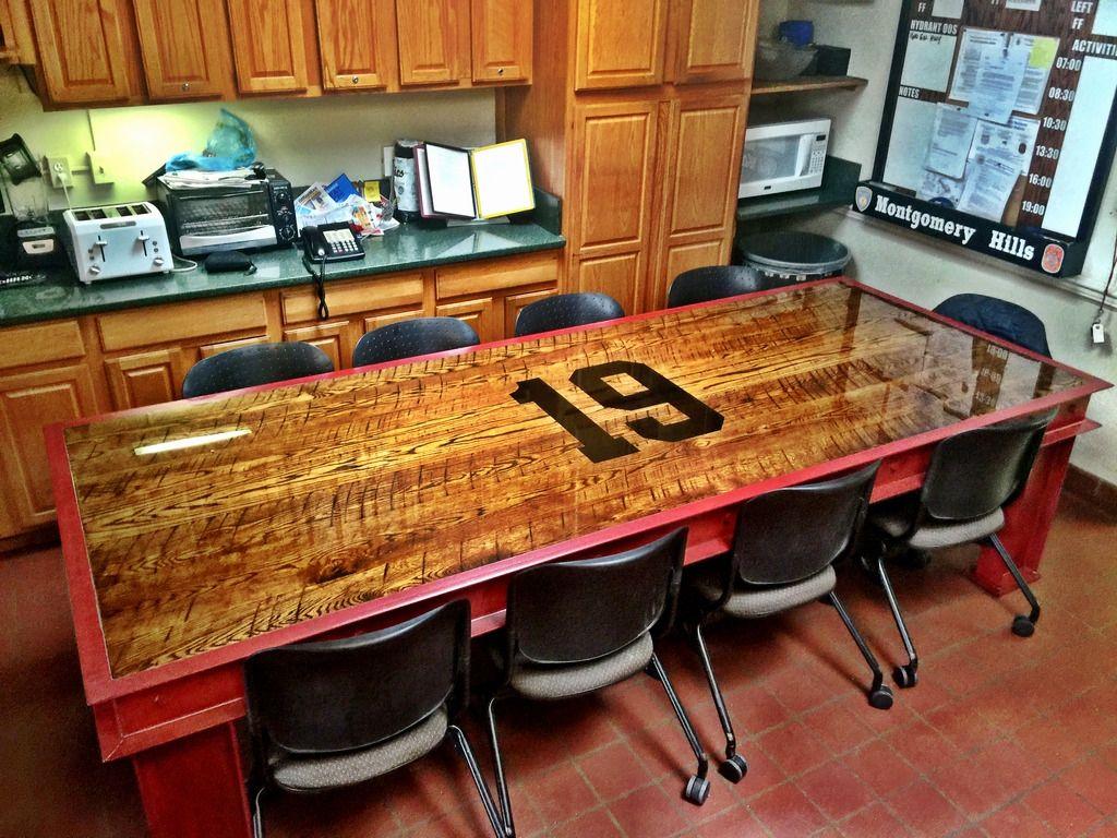 Firehouse Kitchen Tables Fire Department Decor Fire Table Kitchen Table