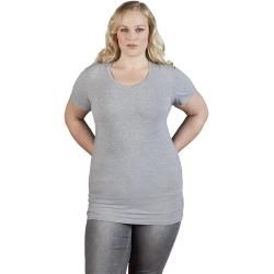 Photo of Slim-fit V-neck T-shirt long plus size women, sport gray Promodoro