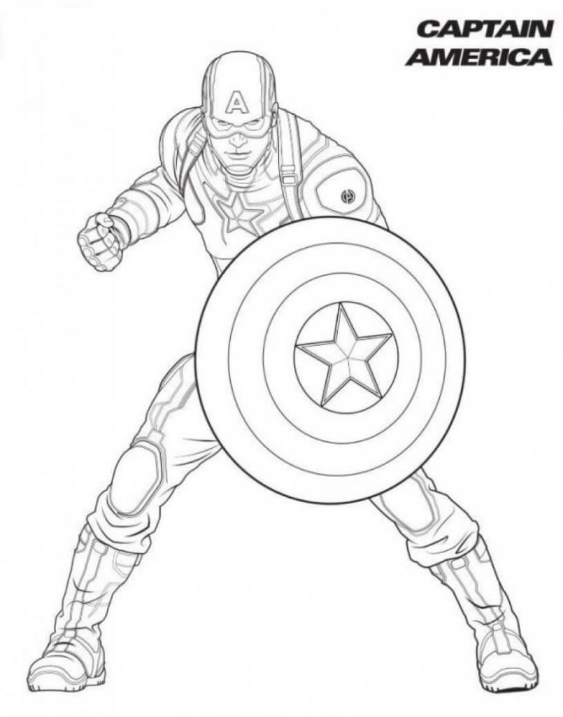 Captain America Superhero Coloring Pages  Avengers coloring pages