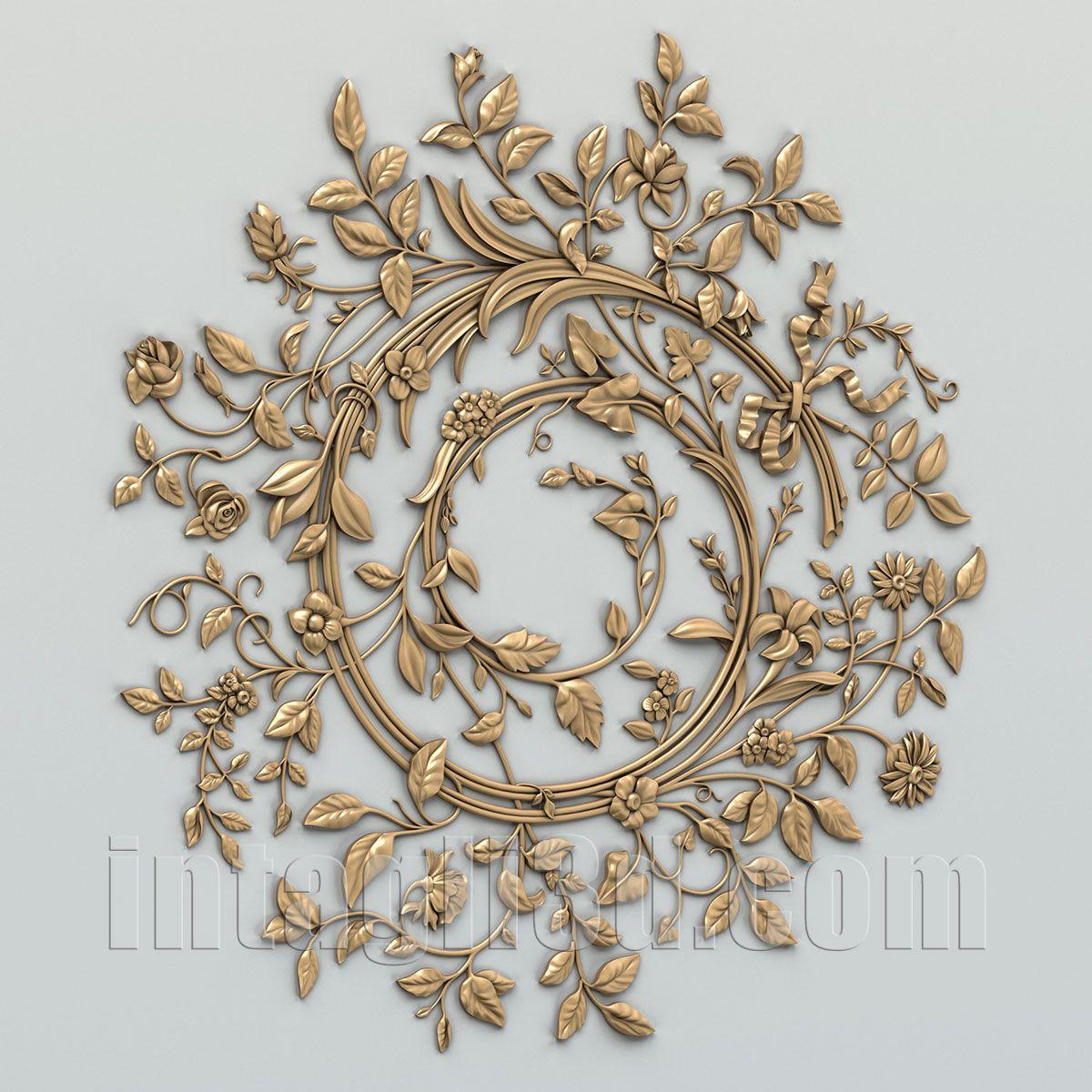 3D-model of decorative сeiling socket for gypsum making for CNC ...