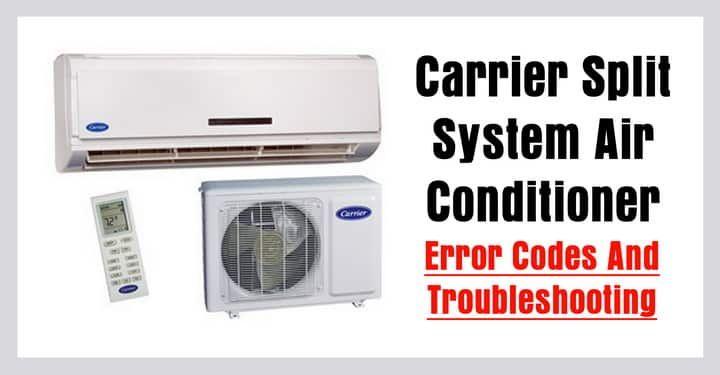 Carrier Split Air Conditioner Ac Error Codes Troubleshooting Split System Air Conditioner Coding Error Code