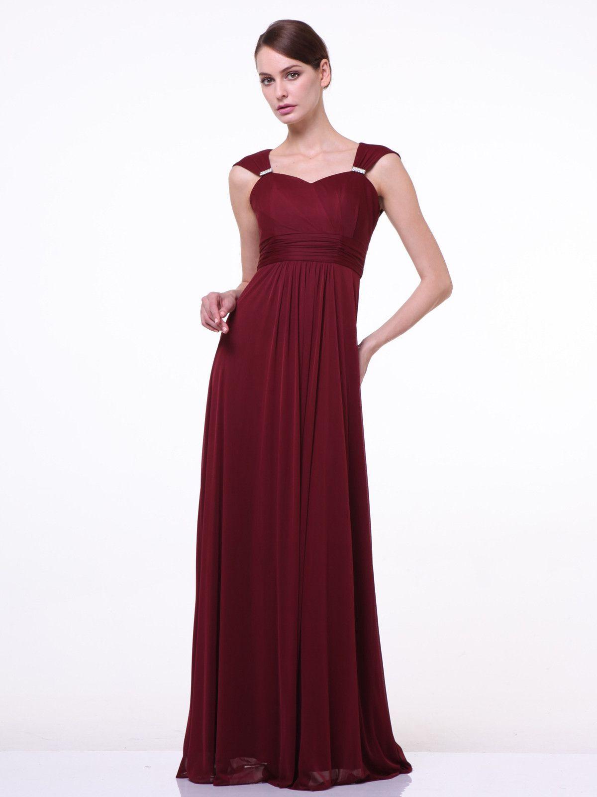 Long sweetheart empire waist dress by cinderella divine grand