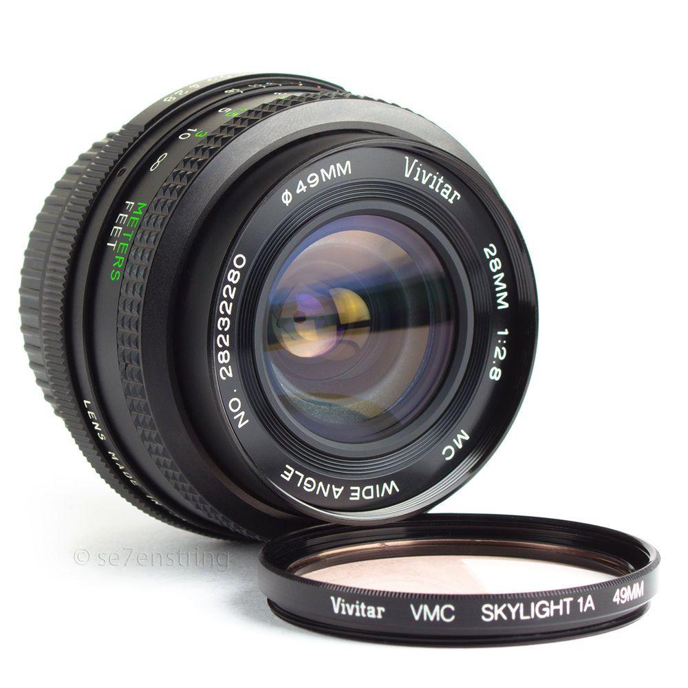 Vivitar 28mm F2 8 Wide Angle Lens Mc Pentax K Pk Fit Dslr Adaptable Eos Mft Vintage Lenses Pentax Wide Angle