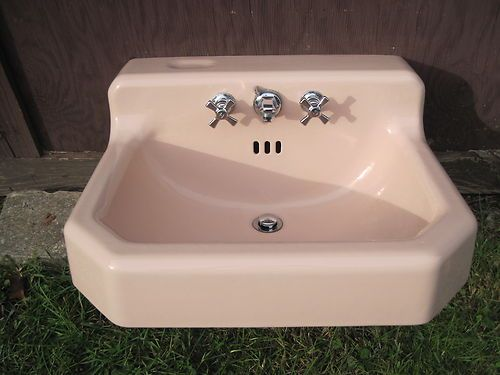 Antique Vintage American Standard Pink Bathroom Sink 1950