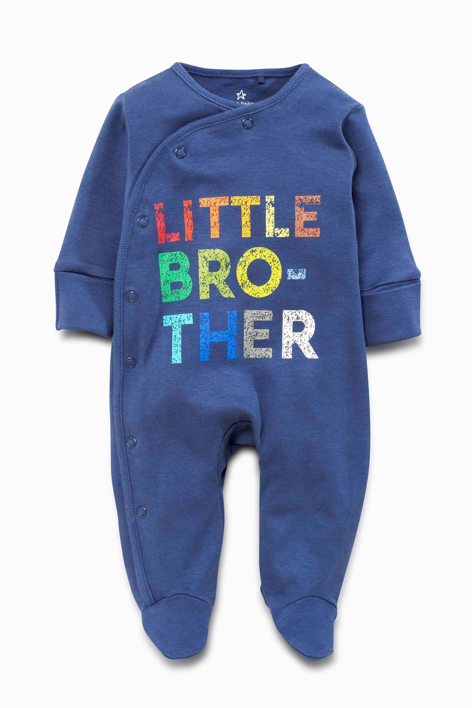 Buy Blue Brother Sleepsuit 0 18mths from the Next UK online shop