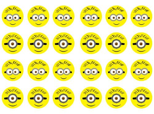 24-Edible-Minions-Faces-Cake-Cupcake-Toppers-Wafer-