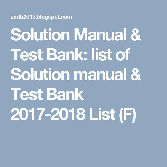 solution manual test bank list of solution manual test bank rh pinterest com Create a Blog Create a Blog