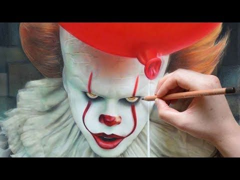 Drawing it pennywise 2017 speeddrawing nimauke youtube