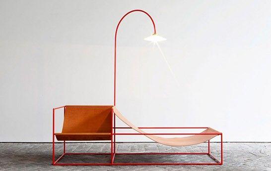 Duo Seat and Lamp by Muller Van Severen Simple furniture
