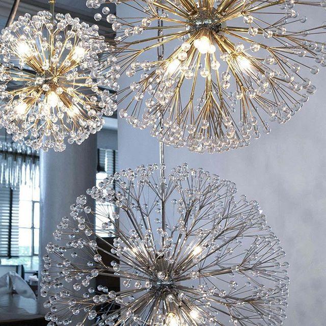 Three Sizes Of The Dandelion Chandelier Chandelier Lighting Fixtures Chandelier Lighting Chandelier Design