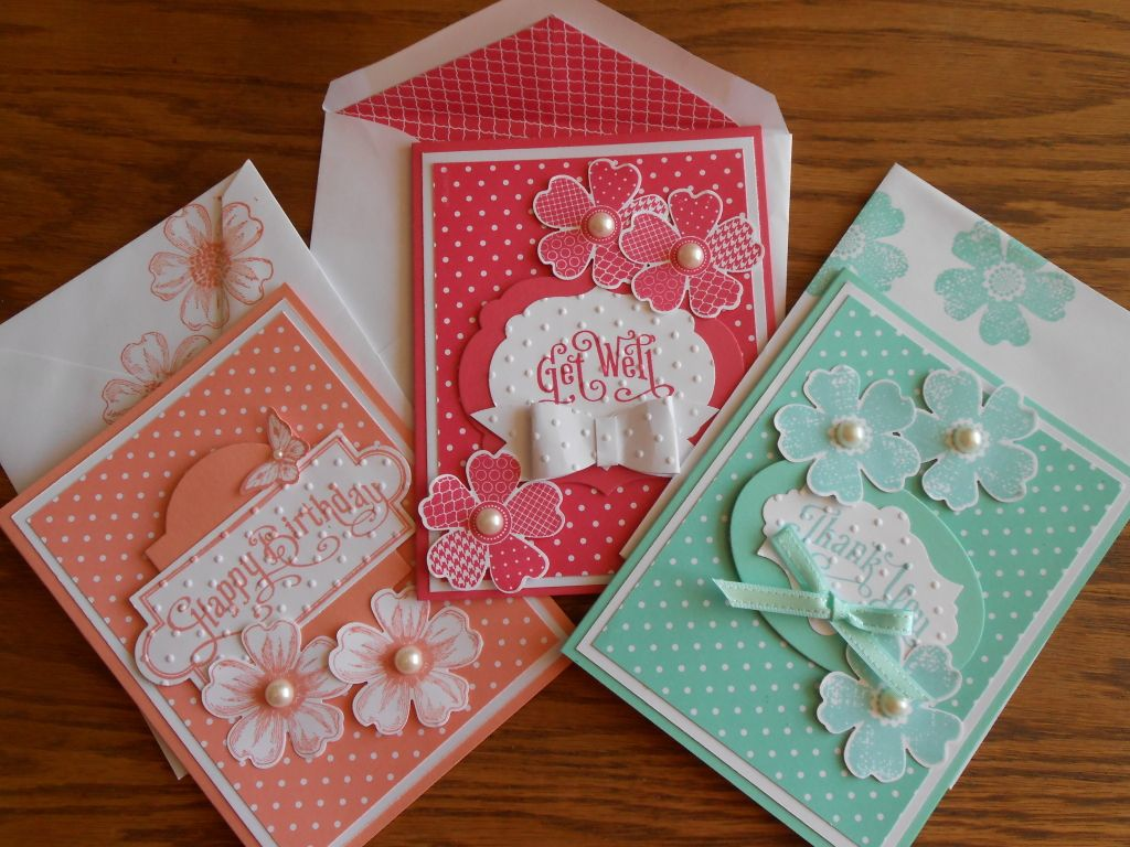 pretty flower shop cards  envelopes  cards handmade