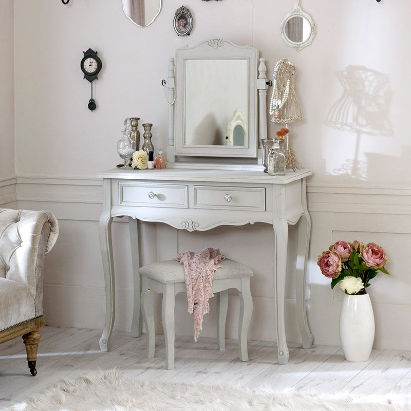 Elise Grey Dressing Table Mirror Stool Grey Dressing Table Cheap Bedroom Furniture Sets Cheap Bedroom Furniture