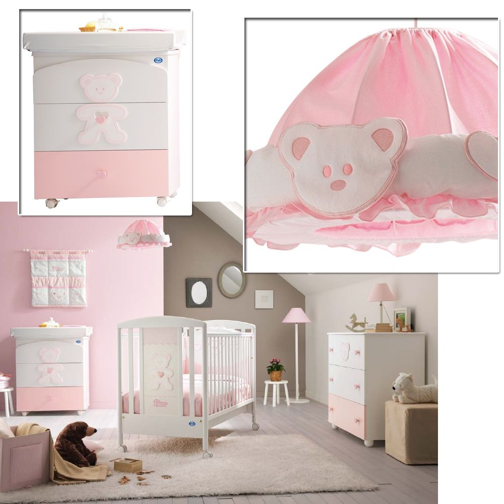 babyzimmer loving bear in pink f r m dchen. Black Bedroom Furniture Sets. Home Design Ideas
