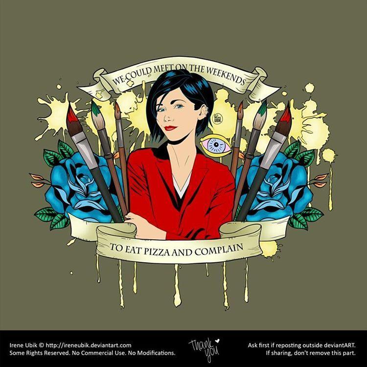 Jane Lane - Weekends Pizza http://www.redbubble.com/people/ireneubik/works/25328741-jane-lane-weekends-pizza?asc=u #ireneubik, #janelane, #jane, #lane, #daria, #dariamorgendorffer, #morgendorffer, #mtv, #90s, #cartoon, #GenerationX, #GenX, #tv, #red, #blue, #black, #paint, #art, #paintingbrush, #painting, #pizza, #weekends, #complain, #oldschool, #teen, #angst, #sicksadworld  Deviantart: http://ireneubik.deviantart.com  Redbubble: http://www.redbubble.com/people/ireneubik