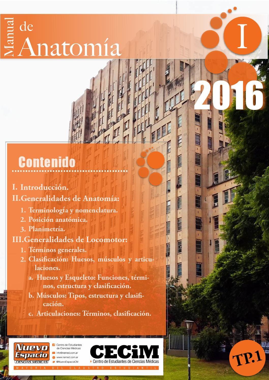 01 Generalidades - Manual Anatomía - CECiM | Pinterest | Anatomía ...
