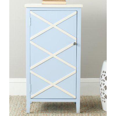 Three Posts Lincklaen Cabinet Finish: Light Blue / White