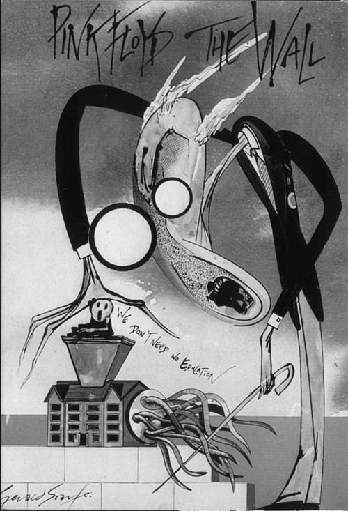 The Meat Grinder Of Education System Pink Floyd S Lyrics To Another Brick In Wall Part 2 As Expressed By Artist Gerald Scarfe