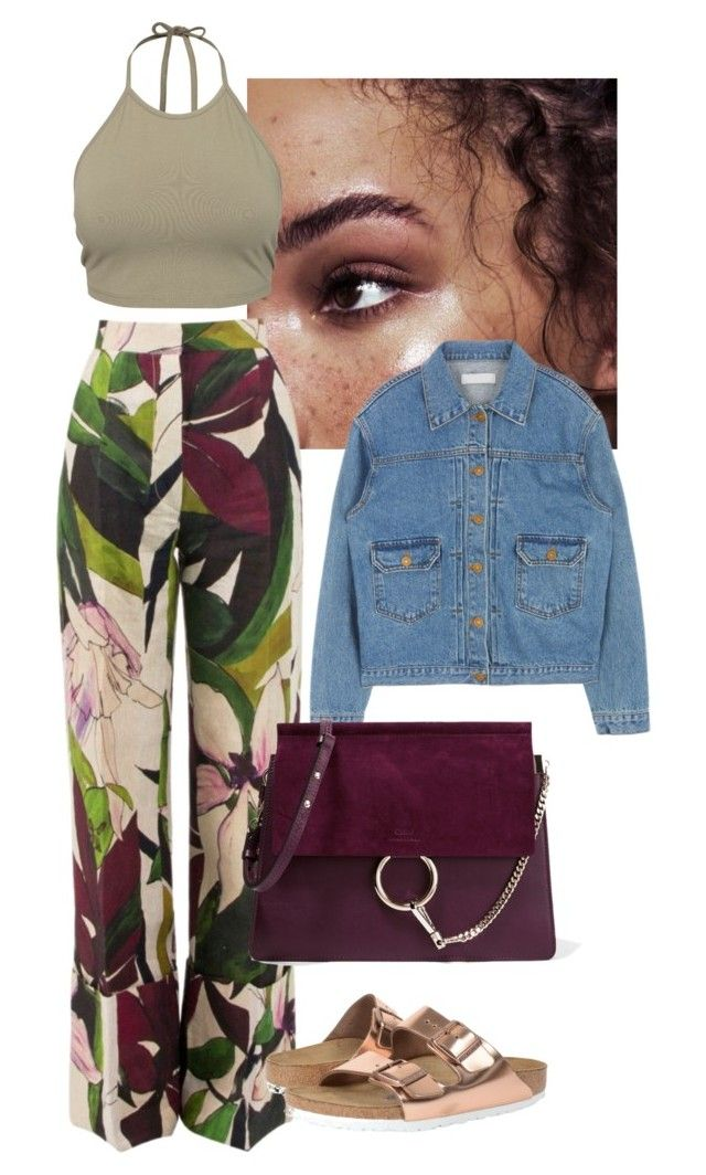 """""""Lincoln Ave"""" by chigo-d ❤ liked on Polyvore featuring Erika Cavallini Semi-Couture, Birkenstock, Chloé and NLY Trend"""