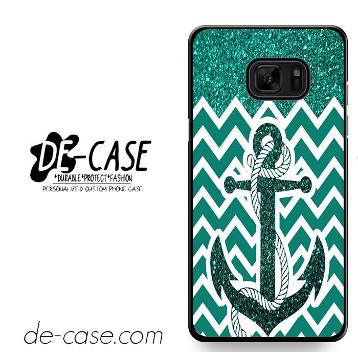 Anchor Glitter Green Mint Chevron DEAL-748 Samsung Phonecase Cover For Samsung Galaxy Note 7