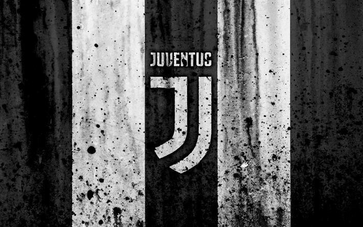 Download Wallpapers Fc Juventus 4k Logo Serie A Juve Stone