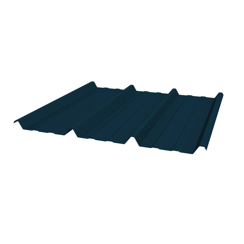 Plaque De Toiture Nervuree Acier Galvanise Bleu L 1 05 X L 2 5 M Joris Ide Acier Galvanise