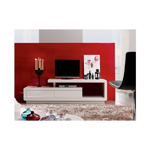 Pour Acheter Votre Vente Unique Meuble Tv Artaban 2 Tiroirs Mdf Laqua C Blanc Pas Cher Et Au Meilleur Prix Rued Modern Tv Units Living Room Tv Tv Unit