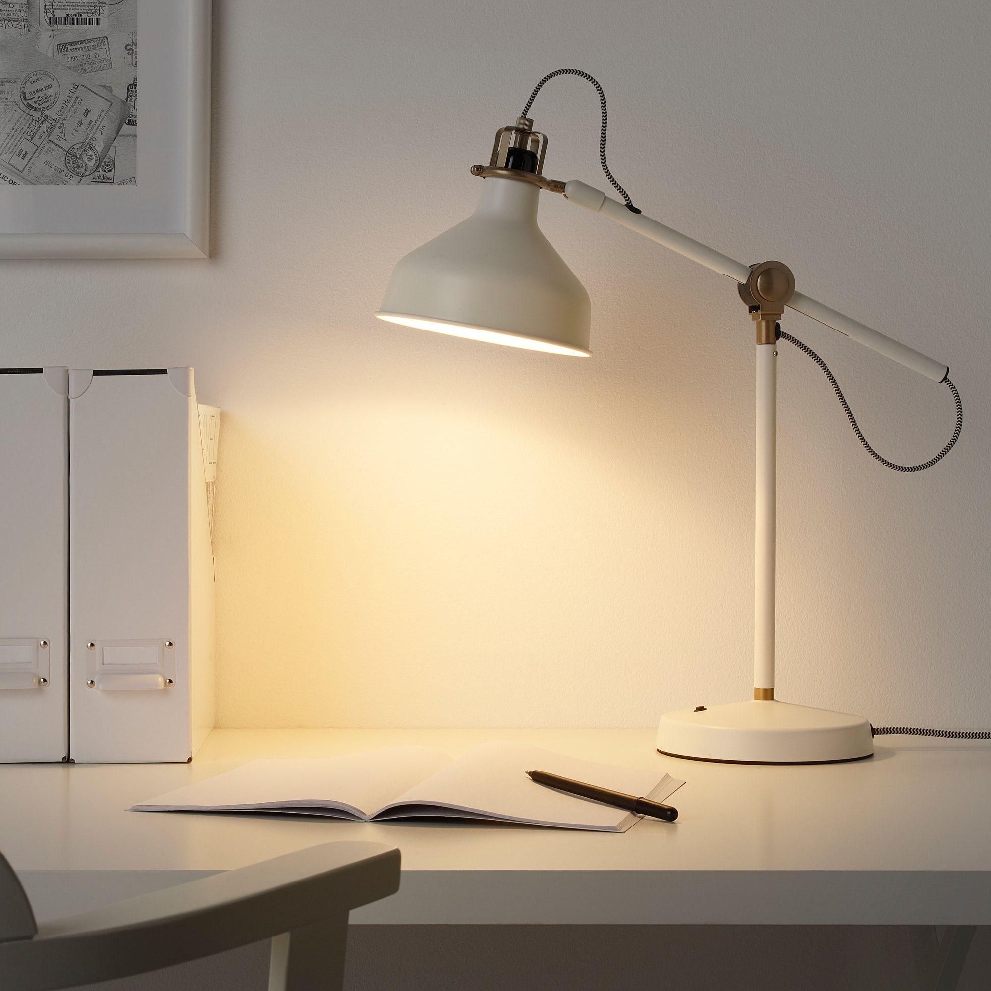 Ranarp Work Lamp With Led Bulb Off White Ikea In 2020 Lamp Led Desk Lamp Desk Lamp