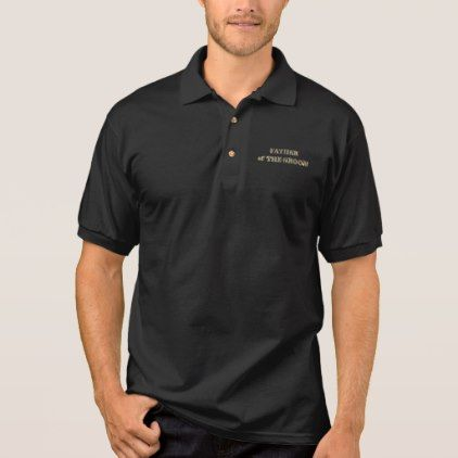 40d9d669 Father of The Groom Golden Glitter Typography Chic Polo Shirt - bridal party  gifts wedding ideas diy custom