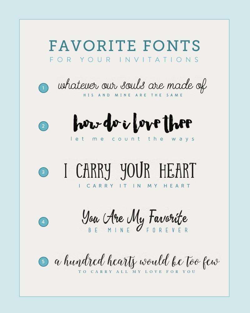 Fonts for DIY Wedding Invitations   Diy wedding invitations, DIY ...