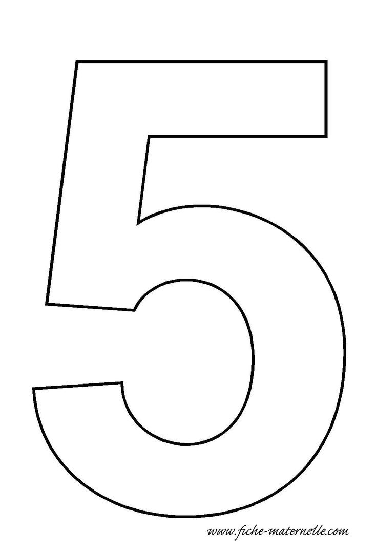 Number 5 Template Numbers Preschool Numbers Kindergarten Printable Numbers