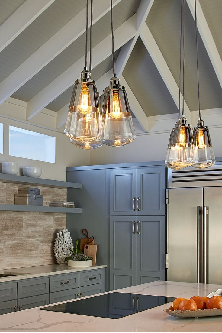 Each Light Fixture In The Modern Waveform Pendant Light Collection
