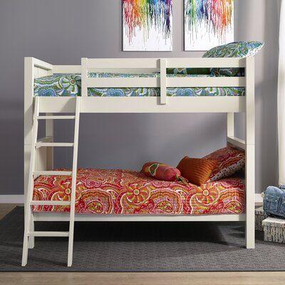 Harriet Bee Roxane Twin Over Twin Bunk Bed Loft Bed Frame Twin Bunk Beds Bunk Beds