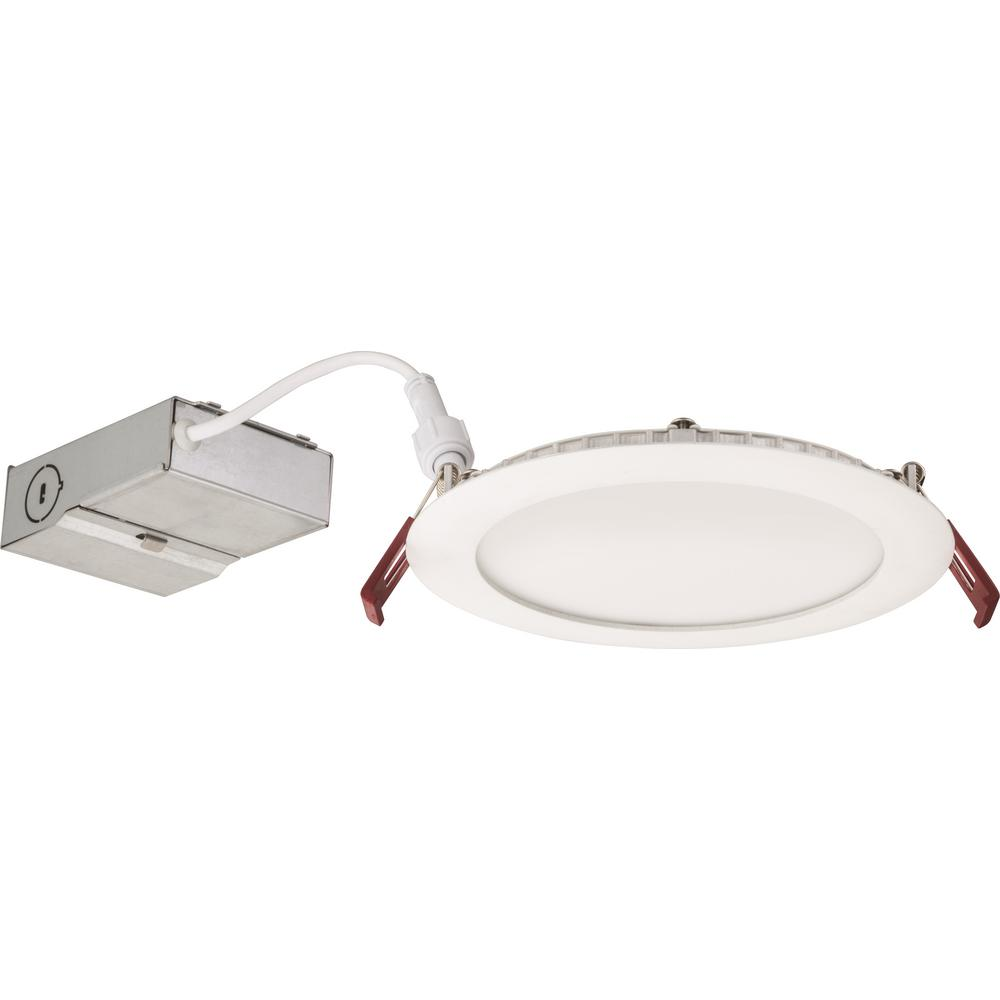 Lithonia Lighting Wafer 6 In White Integrated Led Recessed Kit Recessed Lighting Kits Lithonia Lighting Lithonia Ultra thin recessed led lighting