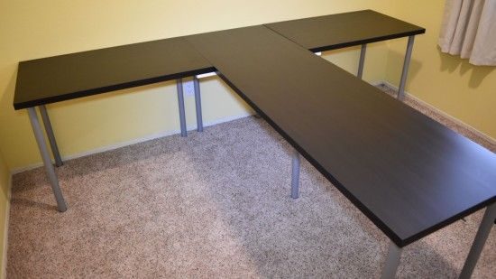 Tshaped partner desk from ikea parts ikea hackers upstairs