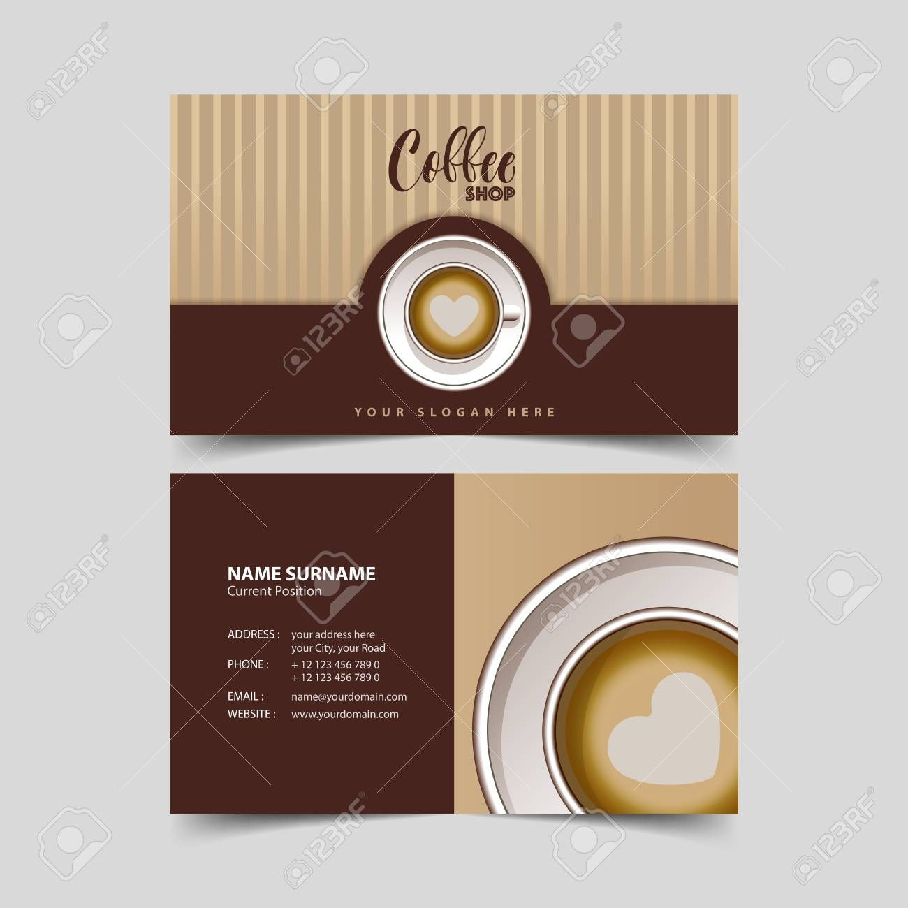 Coffee Shop Business Card Design Template In Coffee Business Card Template Free C Free Business Card Templates Card Templates Free Coffee Shop Business Card
