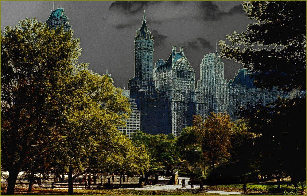 Central Park Summer Impression by Steve Ember