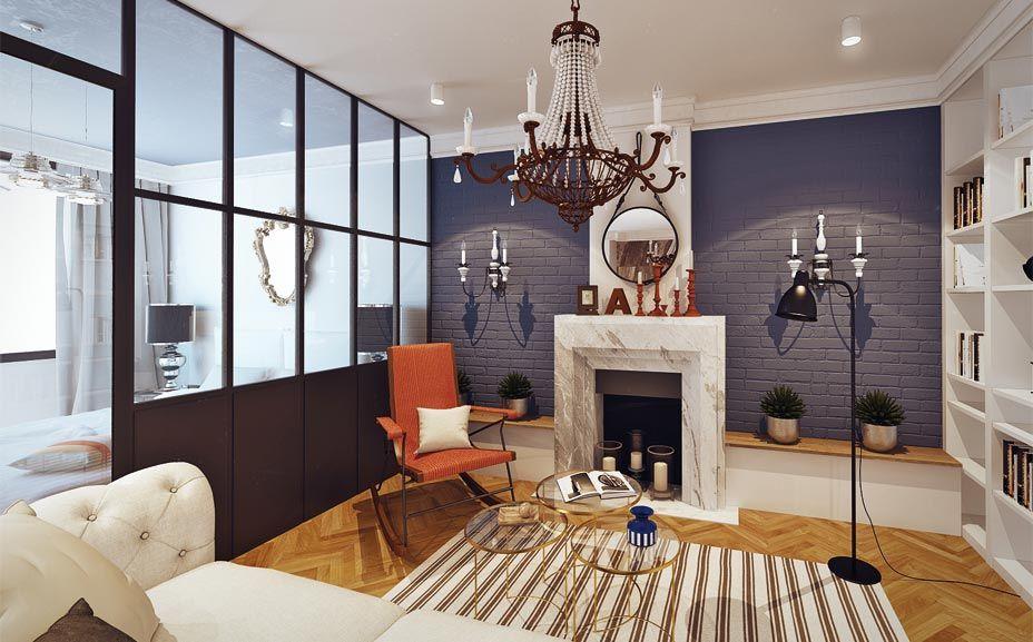 Квартира, г. Москва, 85 м. кв « BohoStudio || Дизайн Интерьеров