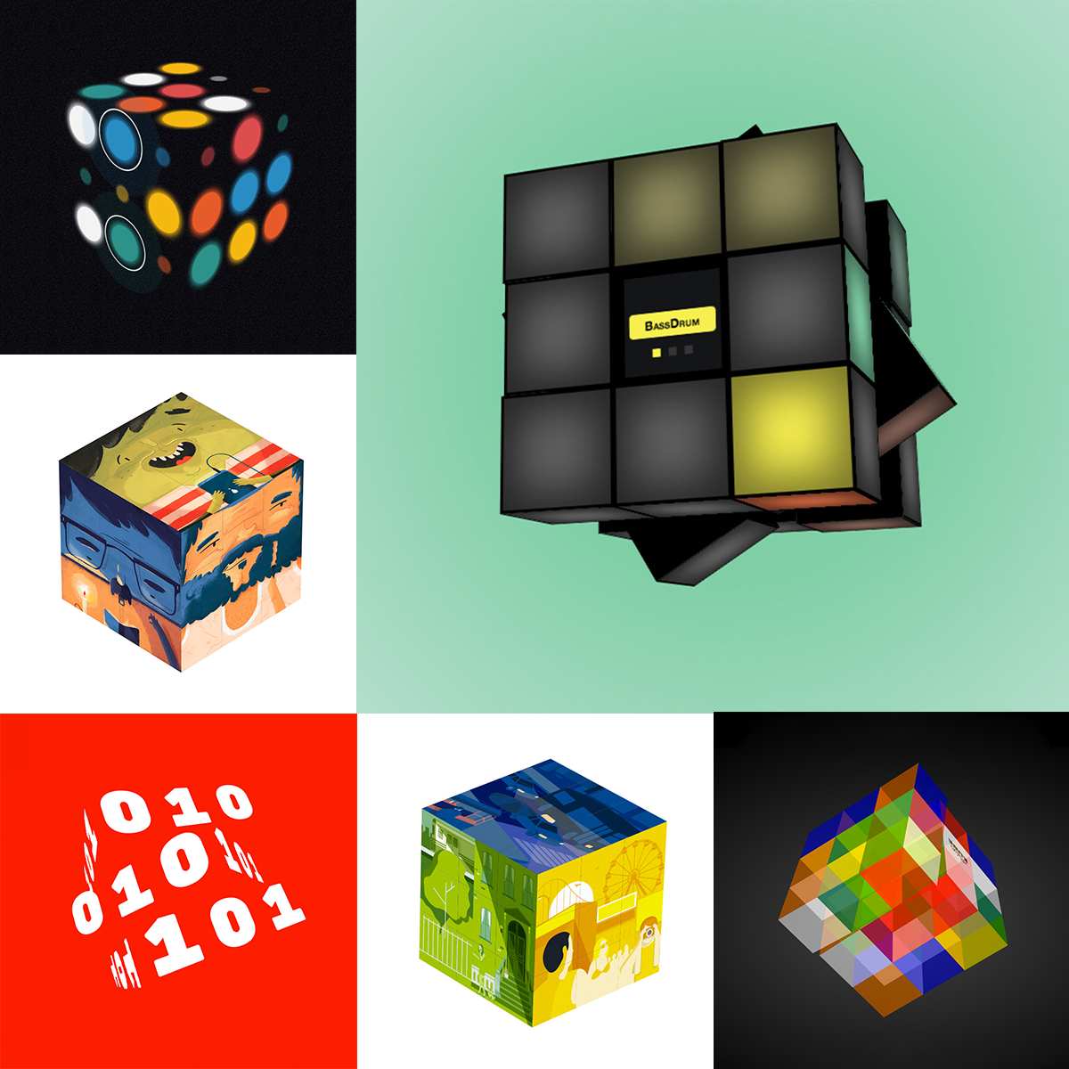 Gallery of Chrome experiments based upon the Rubik's Cube
